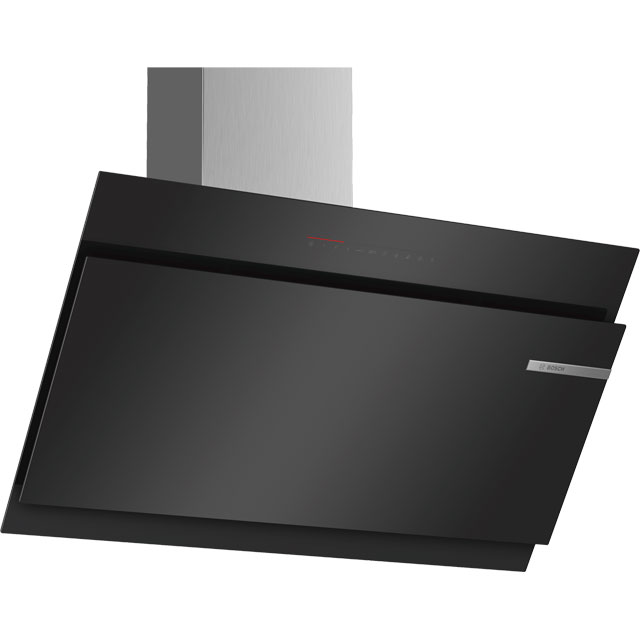 Bosch Serie 6 DWK97JQ60B 89 cm Chimney Cooker Hood - Black - A Rated - DWK97JQ60B_BK - 1