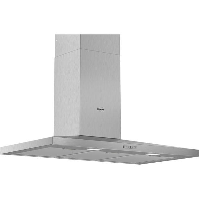 Bosch Serie 2 90 cm Chimney Cooker Hood - Stainless Steel - D Rated