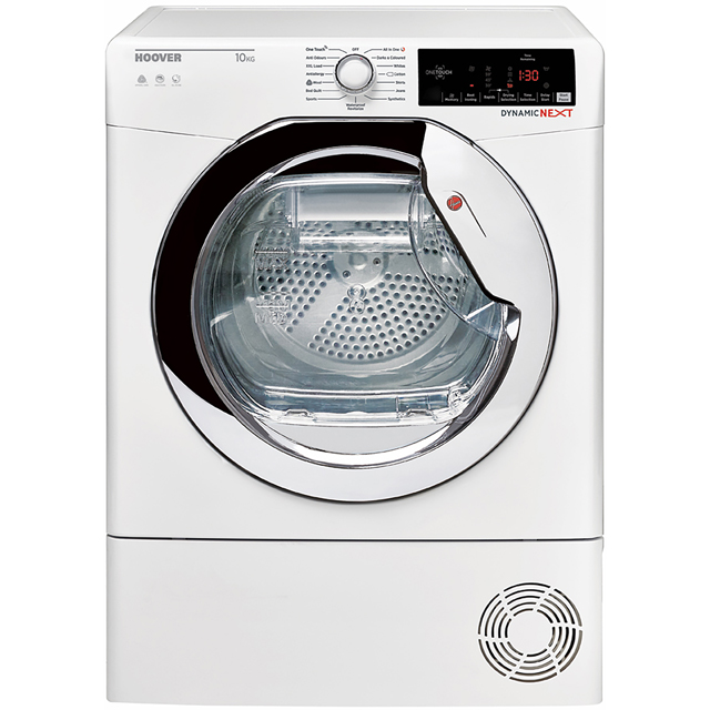 Hoover Dynamic Next DXC10TCE Free Standing Condenser Tumble Dryer in White