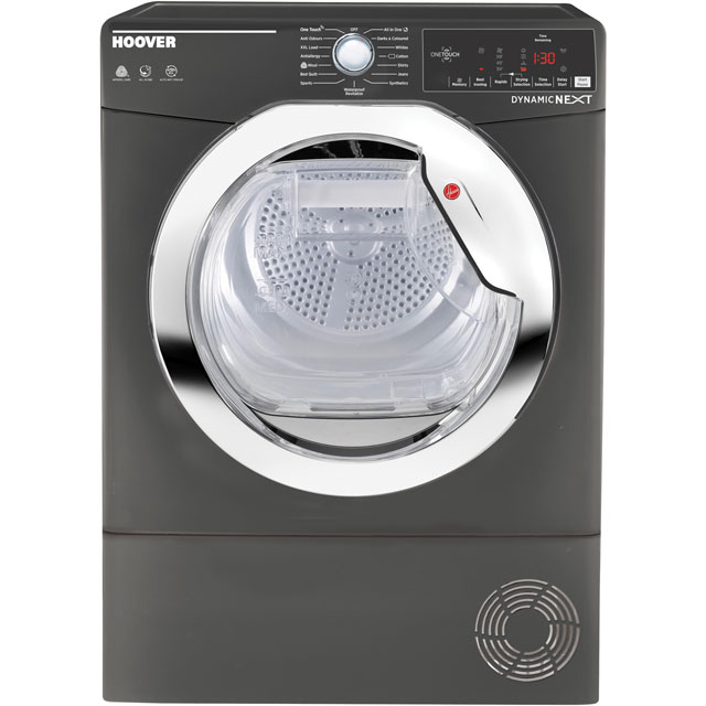 Hoover Dynamic Next Advance DXC8TCER 8Kg Condenser Tumble Dryer - Graphite - B Rated