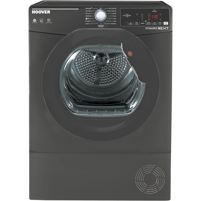 Hoover Dynamic Next Advance Free Standing Condenser Tumble Dryer in Graphite