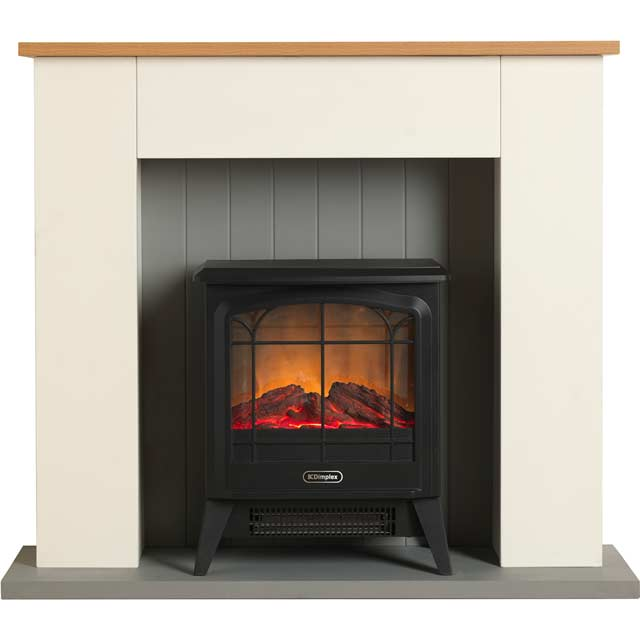 Dimplex Compact Optiflame Microstove Log Effect Suite And Surround - Cream
