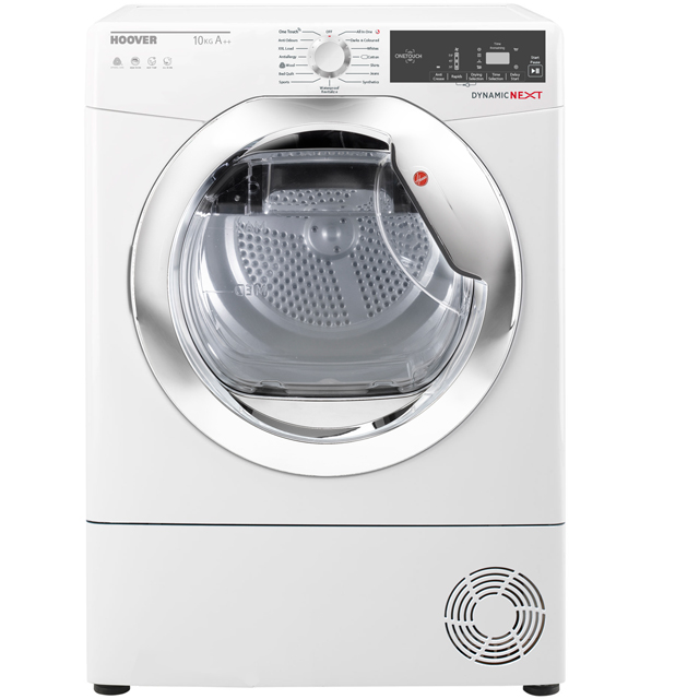 Hoover Dynamic Next DXH10A2TCE Free Standing Condenser Tumble Dryer in White