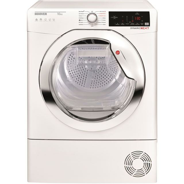 Hoover Dynamic Next DXHY10A1TCE 10Kg Heat Pump Tumble Dryer - White - A+ Rated - DXHY10A1TCE_WH - 1