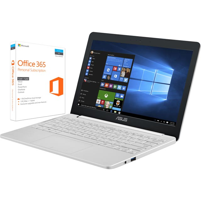 "Asus 11.6"" Laptop Intel® Celeron® 4GB RAM - White"