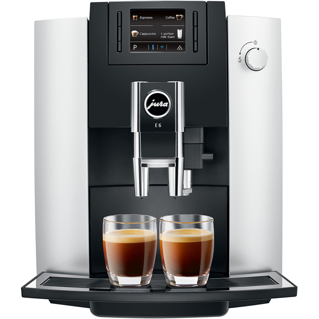 Jura E6 Bean to Cup Coffee Machine - Platinum - E6_PI - 1