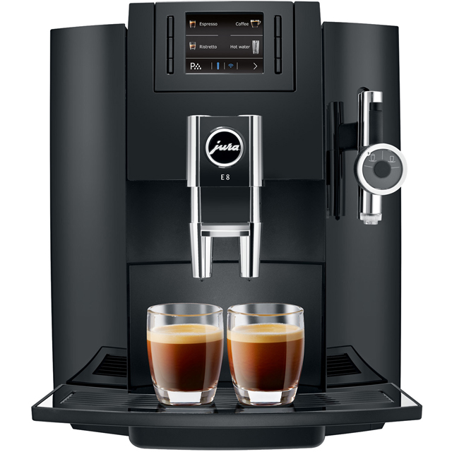 Jura E8 Bean to Cup Coffee Machine - Black - E8_BK - 1