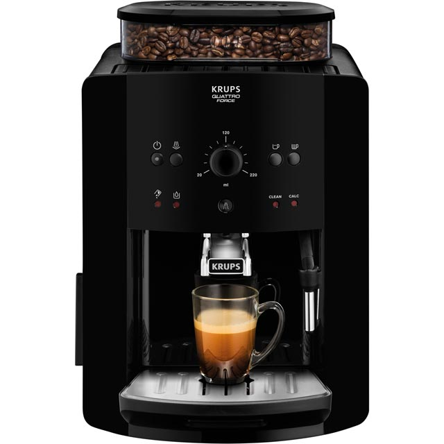 Krups Arabica Manual EA811040 Bean to Cup Coffee Machine - Black - EA811040_BK - 1