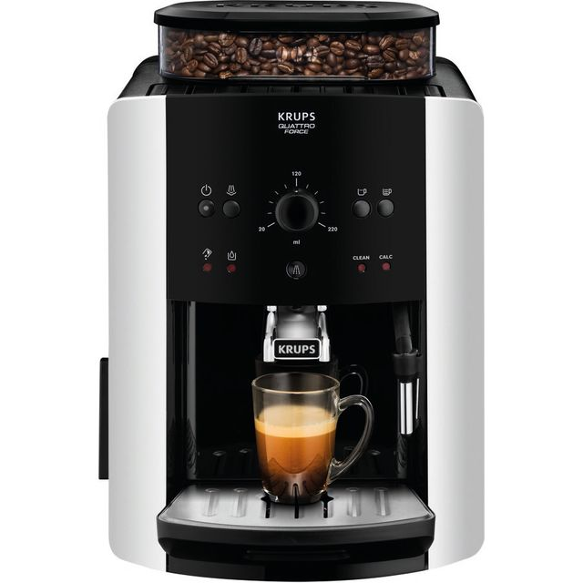 Image of Krups EA811840 Bean to Cup Coffee Machine - Silver
