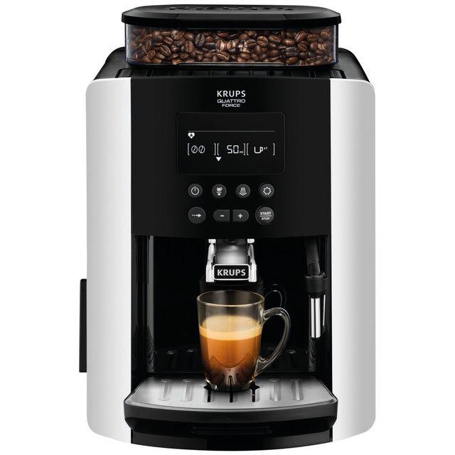 Image of Krups Arabica Digital EA817840 Bean to Cup Coffee Machine - Silver