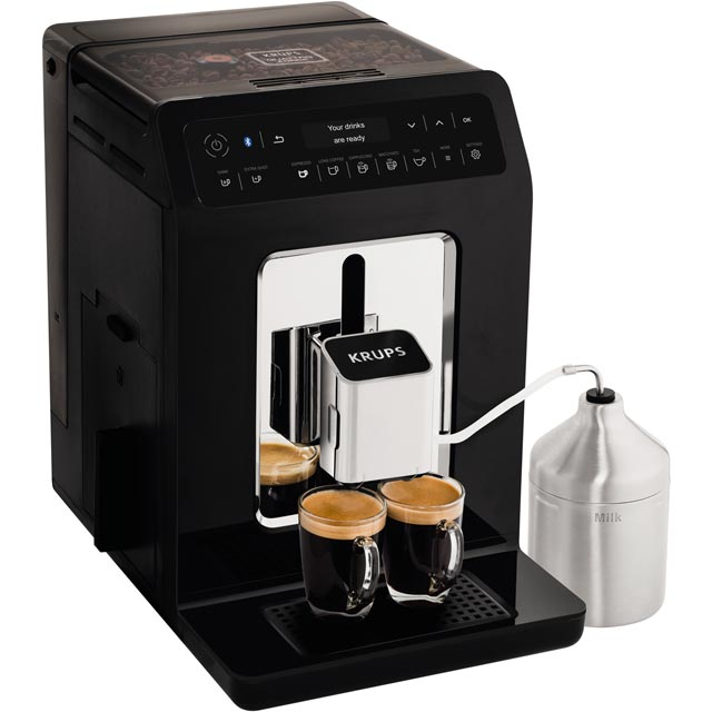 Krups Evidence EA893840 Bean to Cup Coffee Machine - Black - EA893840_BK - 1