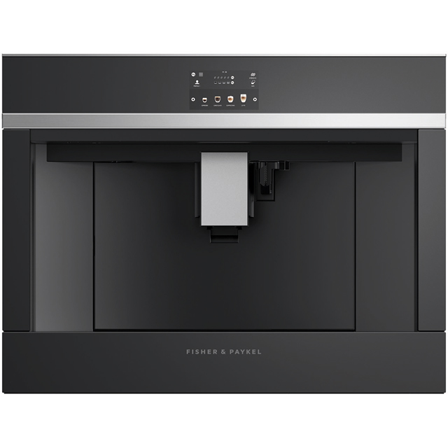 Fisher & Paykel EB60DSXB2 Built In Bean to Cup Coffee Machine - Black / Stainless Steel