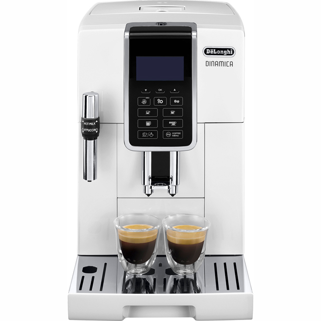 De'Longhi Dinamica ECAM350.35.W Bean to Cup Coffee Machine - White - ECAM350.35.W_WH - 1