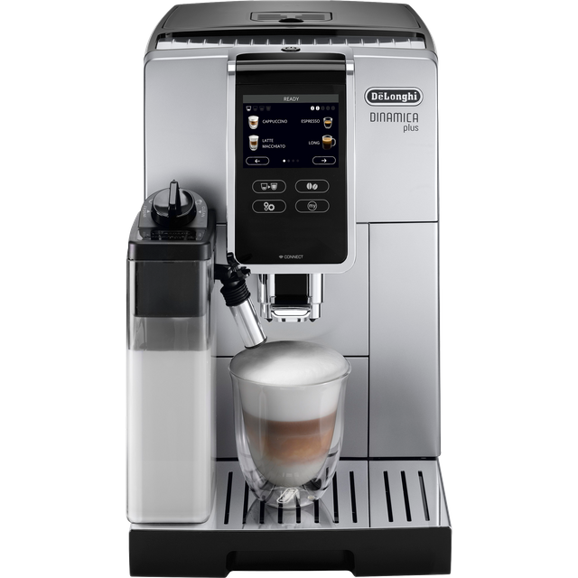 De'Longhi Dinamica ECAM370.85.SB Wifi Connected Bean to Cup Coffee Machine - Silver / Black