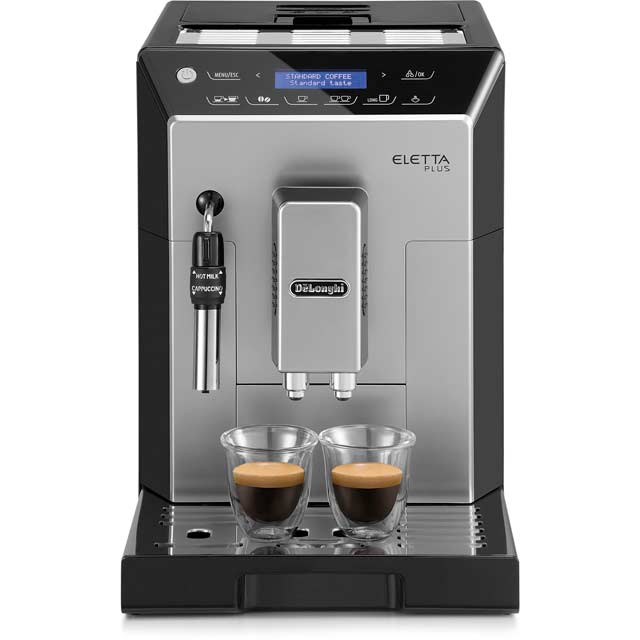 De'Longhi Eletta Plus ECAM44.620.S Bean to Cup Coffee Machine - Black / Silver - ECAM44.620.S_BK - 1