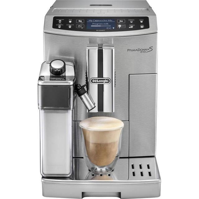 De'Longhi Prima Donna Evo ECAM510.55.M Wifi Connected Bean to Cup Coffee Machine - Stainless Steel