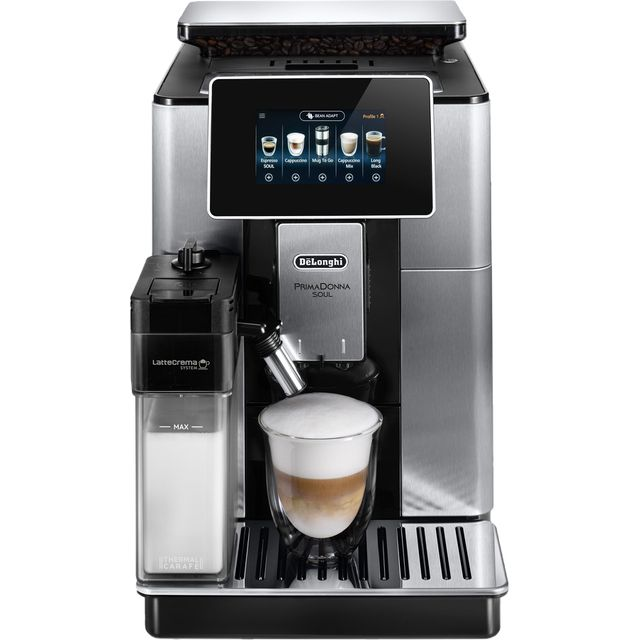 De'Longhi PrimaDonna ECAM610.75.MB Wifi Connected Bean to Cup Coffee Machine - Black