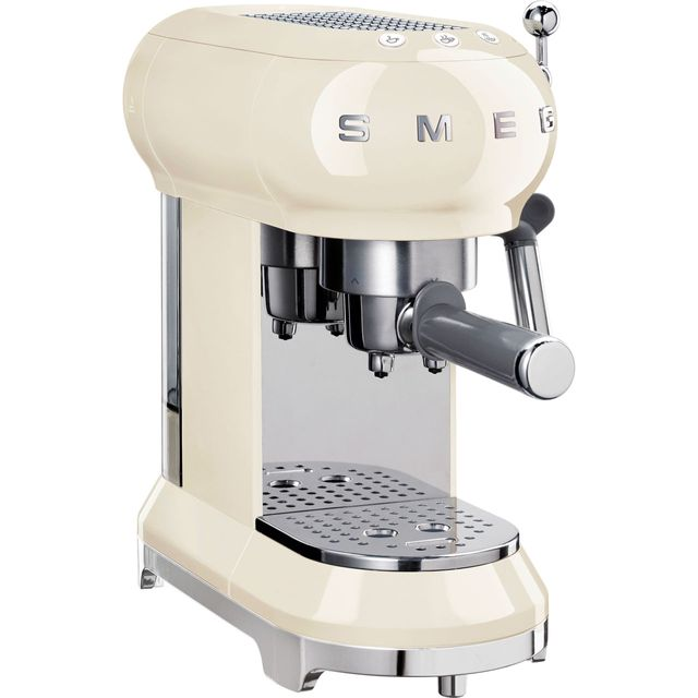 Smeg ECF01CRUK Espresso Coffee Machine - Cream