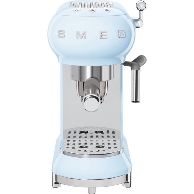 Smeg 50s Retro ECF01PBUK Espresso Coffee Machine - Pastel Blue
