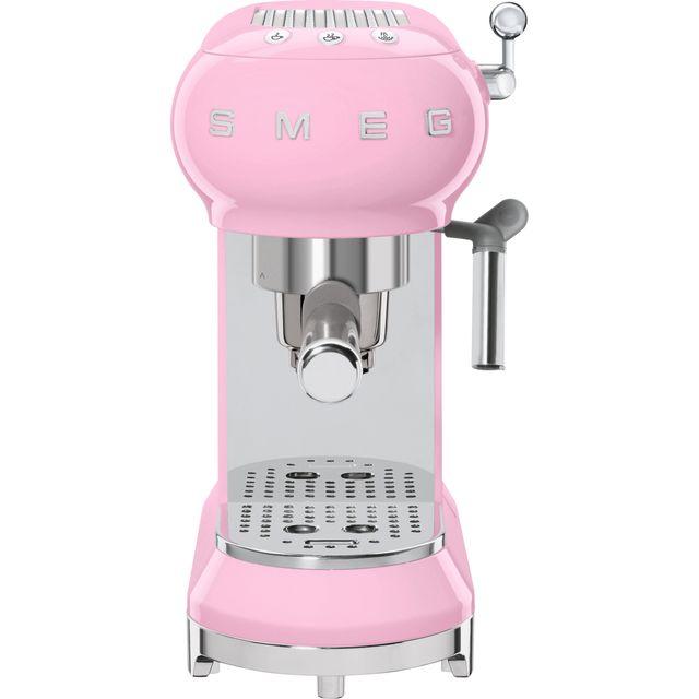 Smeg 50's Retro ECF01PKUK Espresso Coffee Machine - Pink