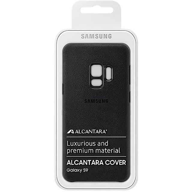 Samsung Alcantara Cover for Samsung Galaxy S9 - Black