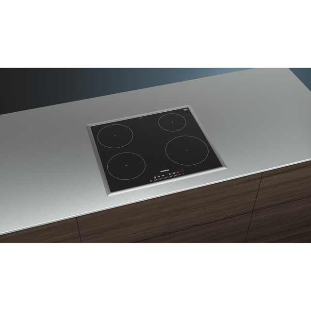 Siemens IQ-100 EH645FEB1E Built In Induction Hob - Black - EH645FEB1E_BK - 4