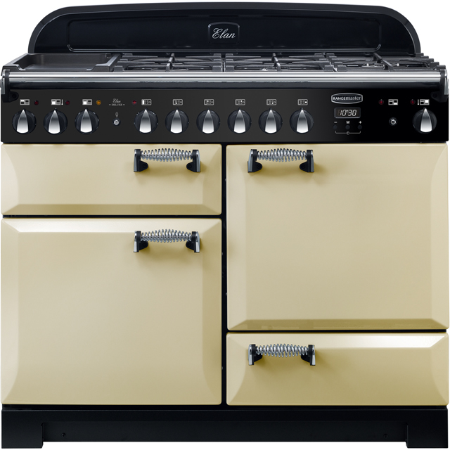 Rangemaster Elan Deluxe 110cm Dual Fuel Range Cooker - Cream - A/A Rated