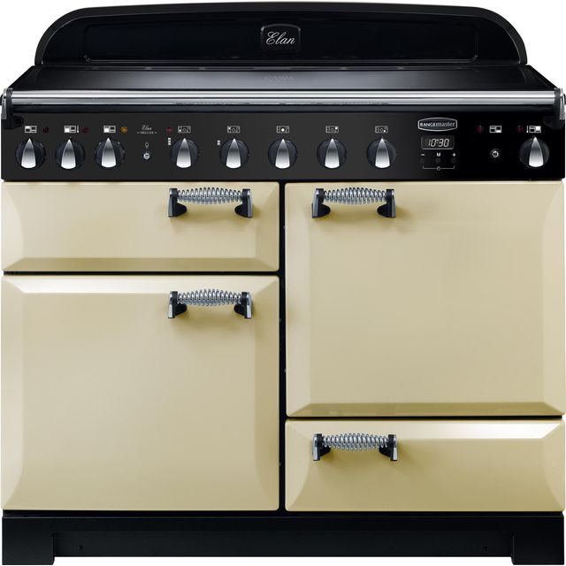 Rangemaster Elan Deluxe ELA110EICR 110cm Electric Range Cooker with Induction Hob - Cream - A/A Rated - ELA110EICR_CR - 1