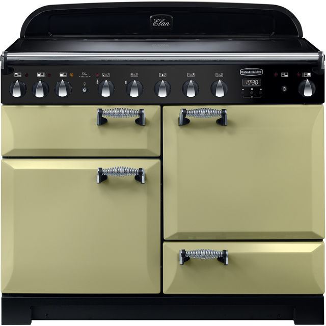 Rangemaster Elan Deluxe ELA110EIOG 110cm Electric Range Cooker with Induction Hob - Olive Green - A/A Rated - ELA110EIOG_OG - 1