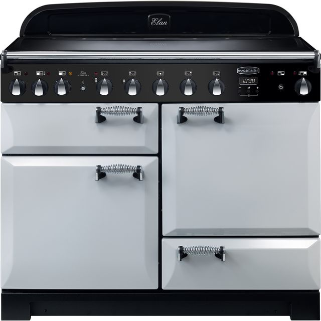 Rangemaster Elan Deluxe 110cm Electric Range Cooker with Induction Hob - Royal Pearl - A/A Rated
