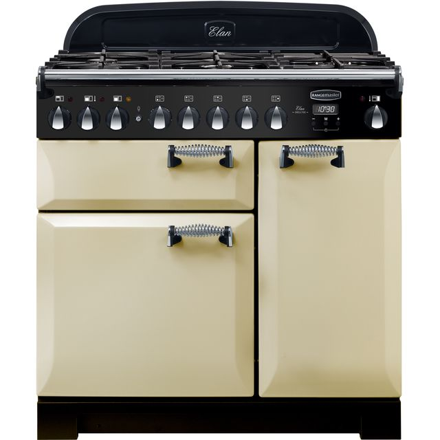 Rangemaster Elan Deluxe 90cm Dual Fuel Range Cooker - Cream - A/A Rated