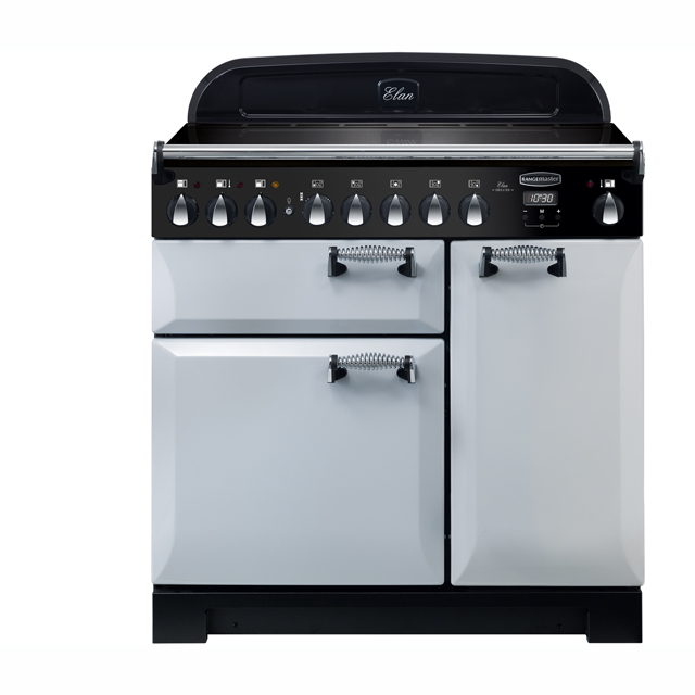 Rangemaster Elan Deluxe 90cm Electric Range Cooker with Induction Hob - Royal Pearl - A/A Rated