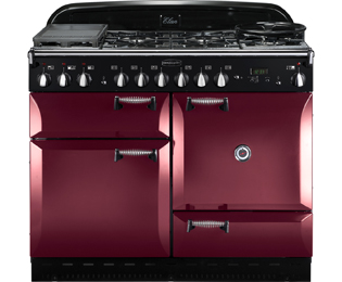 Rangemaster Elan ELAS110DFFCY 110cm Dual Fuel Range Cooker - Cranberry / Chrome - A Rated