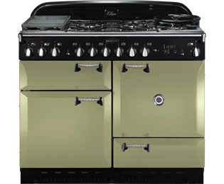 Rangemaster Elan 110cm Dual Fuel Range Cooker - Olive Green - A Rated