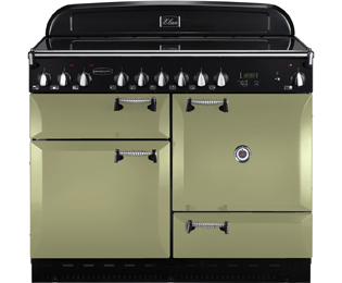 Rangemaster Elan ELAS110ECOG 110cm Electric Range Cooker with Ceramic Hob - Olive Green - A Rated