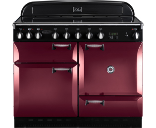 Rangemaster Elan 110cm Electric Range Cooker with Induction Hob - Cranberry / Chrome - A Rated