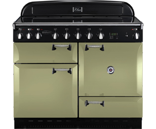 Rangemaster Elan 110cm Electric Range Cooker with Induction Hob - Olive Green - A Rated