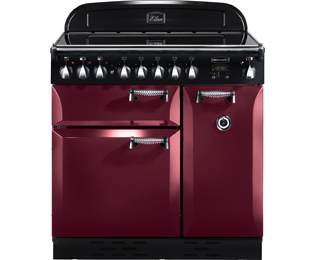 Rangemaster Elan 90cm Electric Range Cooker with Ceramic Hob - Cranberry - A Rated