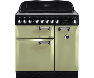 Rangemaster Elan 90cm Electric Range Cooker with Ceramic Hob - Olive Green - A Rated