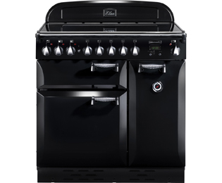 Rangemaster Elan ELAS90EIBL 90cm Electric Range Cooker with Induction Hob - Black / Chrome - A Rated