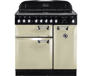 Rangemaster Elan ELAS90EICR 90cm Electric Range Cooker with Induction Hob - Cream / Chrome - A Rated