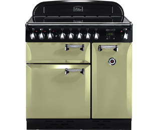 Rangemaster Elan 90cm Electric Range Cooker with Induction Hob - Olive Green - A Rated