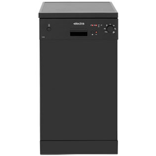 Electra C1745B Slimline Dishwasher - Black - A++ Rated - C1745B_BK - 1