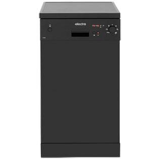 Electra C1745B Free Standing Slimline Dishwasher in Black