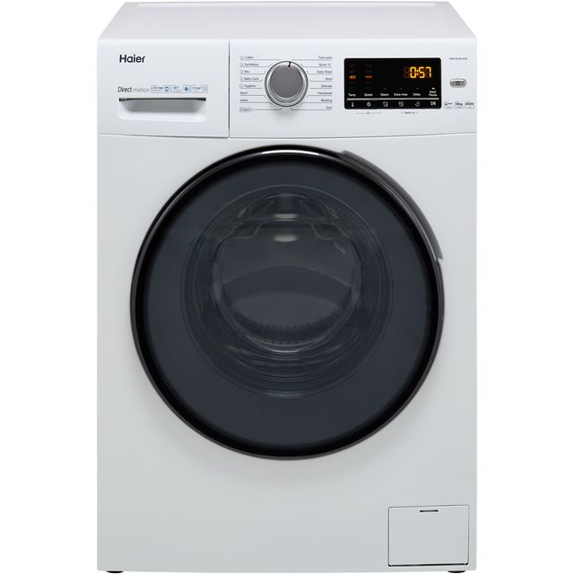 Haier HW100-B1439 10Kg Washing Machine with 1400 rpm - White - A+++ Rated - HW100-B1439_WH - 1