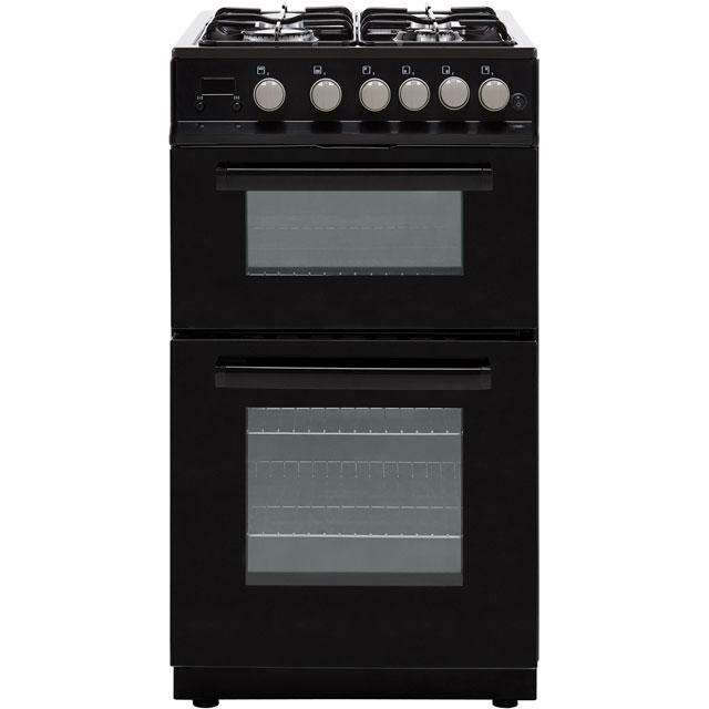 Electra PFSDOG5B 50cm Gas Cooker with Gas Grill - Black - A+/A Rated - PFSDOG5B_BK - 1