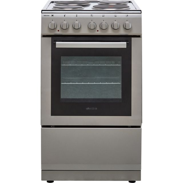 Electra SE50S 50cm Electric Cooker with Solid Plate Hob - Silver - A Rated