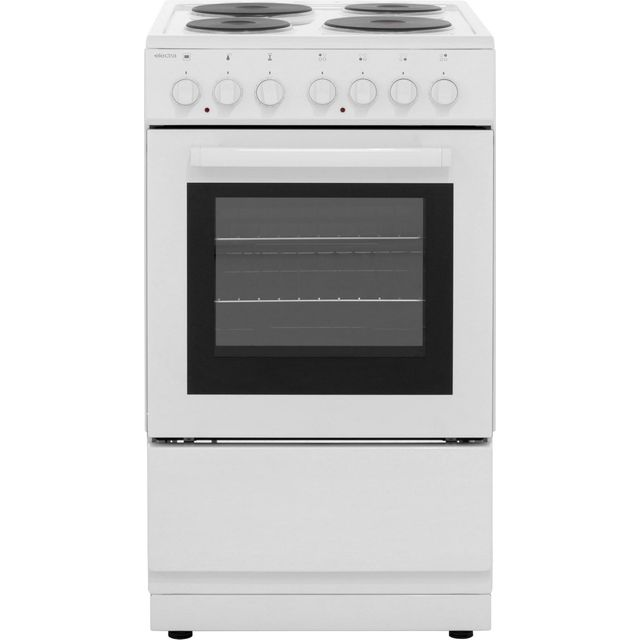 Electra SE50W Electric Cooker with Solid Plate Hob - White