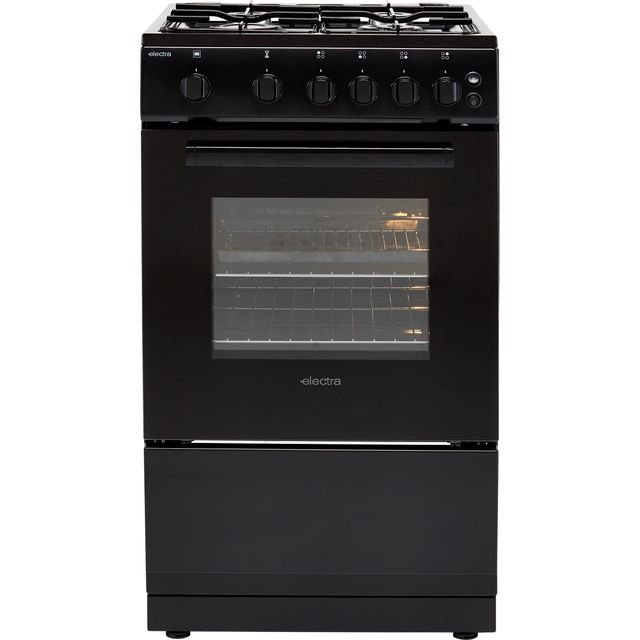 Electra SG50B 50cm Gas Cooker - Black - A Rated - SG50B_BK - 1