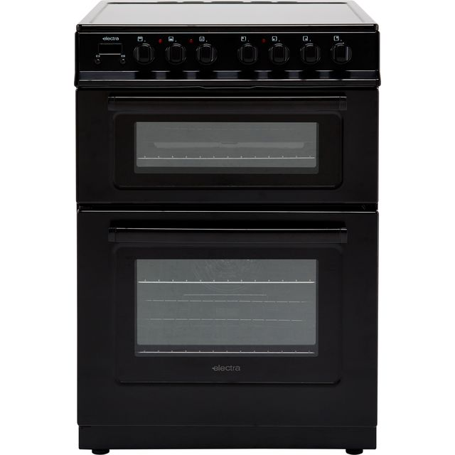 Electra TCR60B 60cm Electric Cooker with Ceramic Hob - Black - A Rated - TCR60B_BK - 1